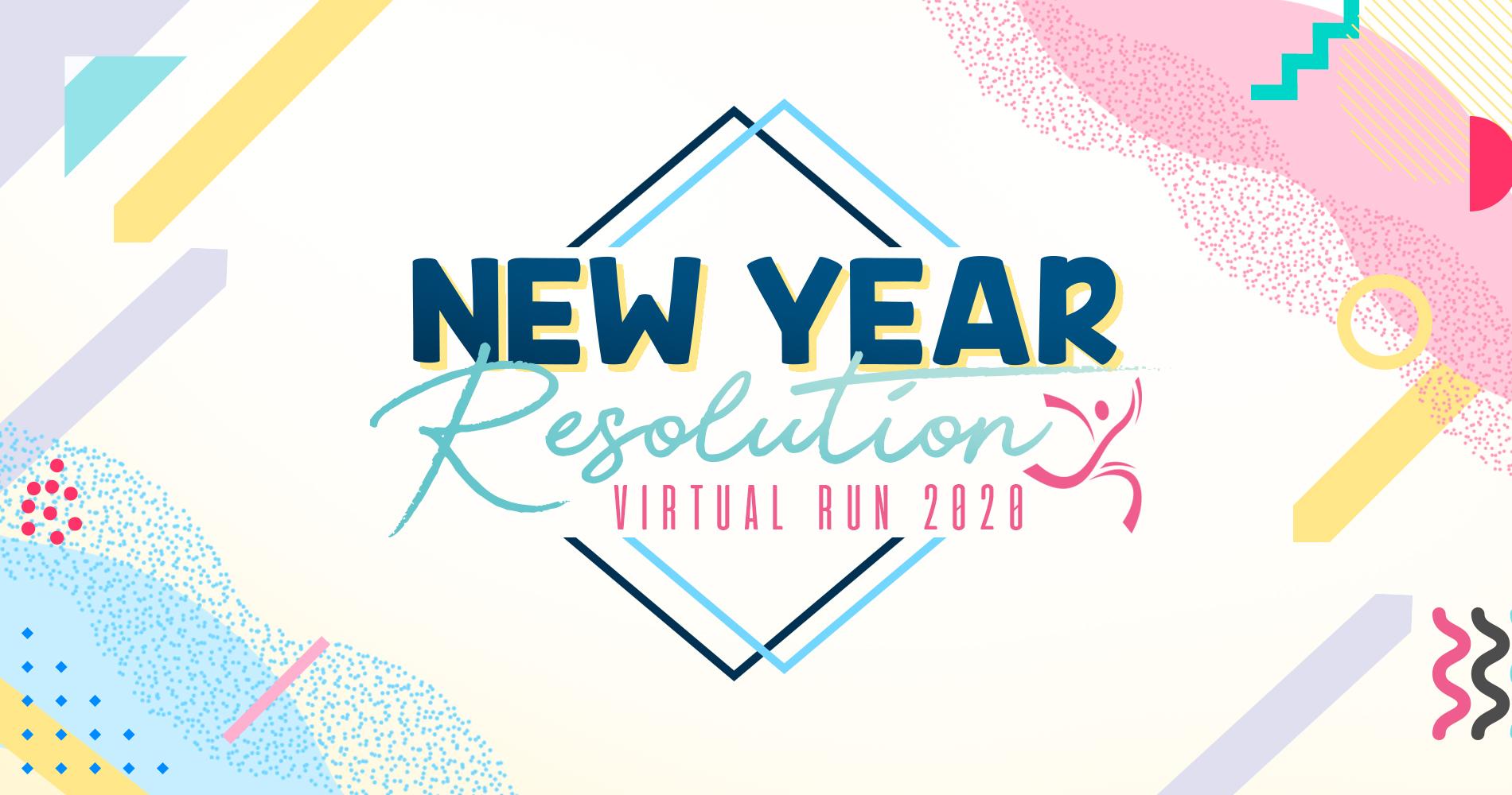 New Years Resolutions 2020.New Year Resolution Virtual Run 2020